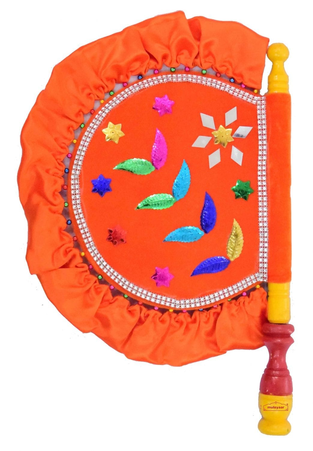 Traditional Punjabi Pakhi Hand Fan size 16 inch length T0233 1