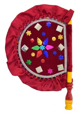 Punjabi Traditional Pakhi Hand Fan size 16 inch length T0234