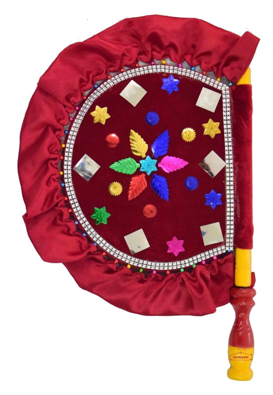 Punjabi Traditional Pakhi Hand Fan size 16 inch length T0234 1