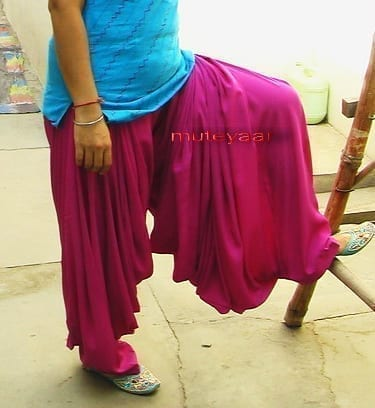 Magenta Super Heavy Maharani Patiala Salwar of Crepe Fabric 2