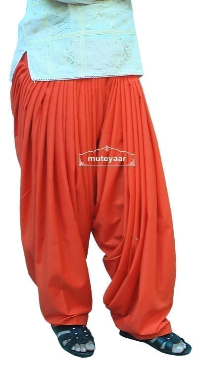 orange Patyala Shalwar/salwar direct from Patiala 1