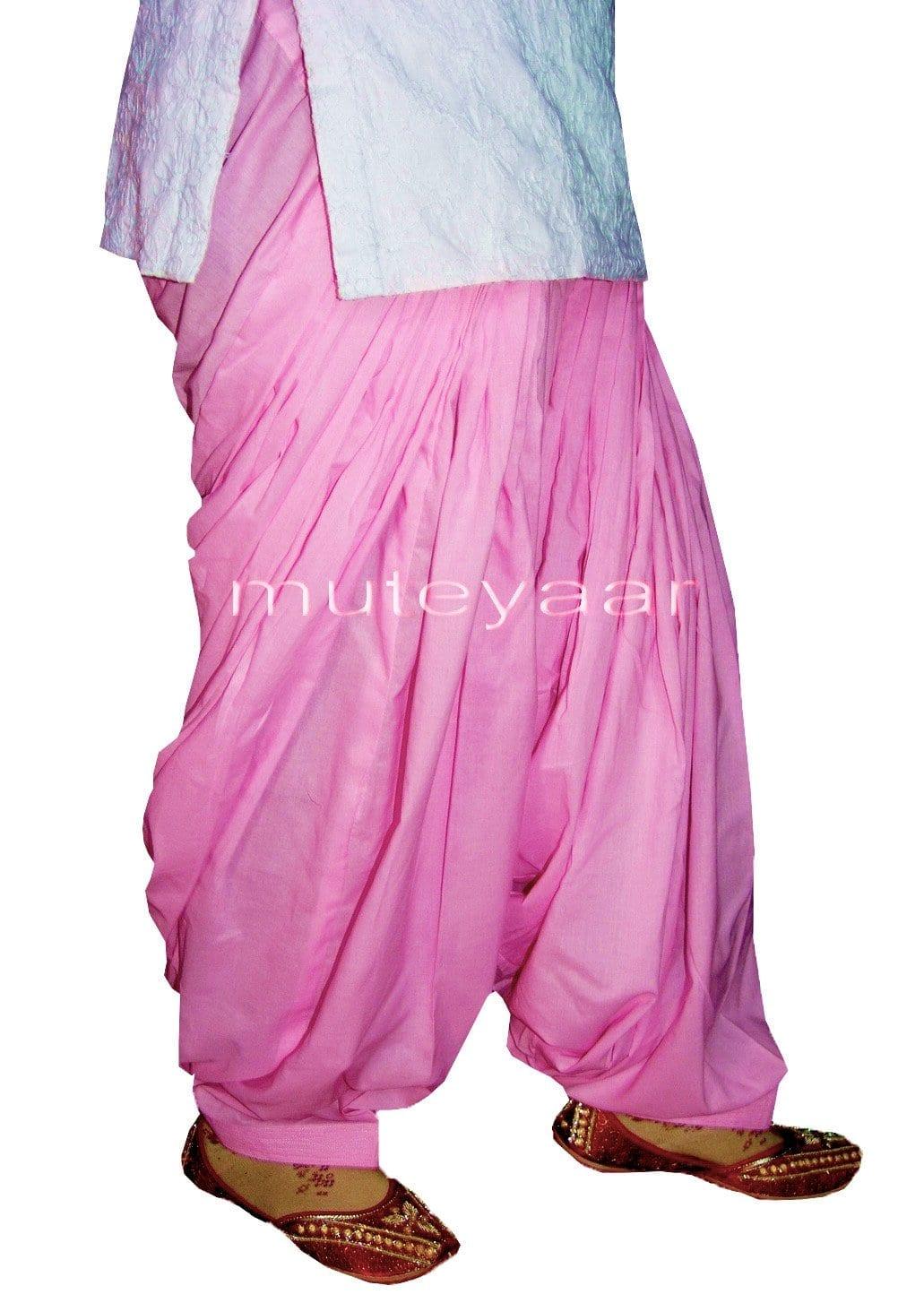 100% PURE COTTON PINK PATIALA  PANTS from Patiyala city !! 1