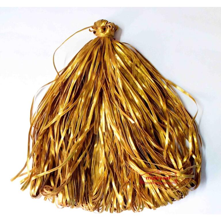 Half cm wide Golden Gota Patti Lace Kinari Border (per meter price)