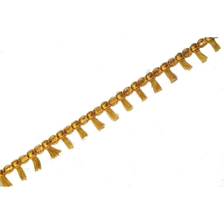 Half inch Wide Golden Tassles Lace 18 meters Long Piece LC186
