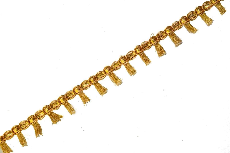 Half inch Wide Golden Tassles Lace 18 meters Long Piece LC186 1