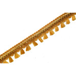 22 mm Wide Golden Tassles Lace 9 meters Long Piece LC191