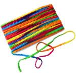 Small Multicolor Laddoo Lace Pom Pom Balls kinari LC196