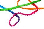Small Multicolor Laddoo Pom Pom Balls kinari Lace Roll of 9 Meters LC196