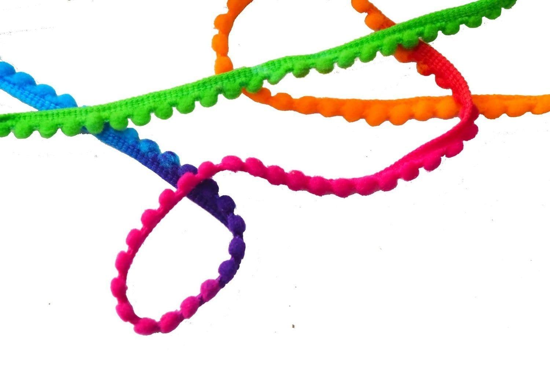 Small Multicolor Laddoo Lace Pom Pom Balls kinari LC196 2