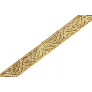 1 inch Wide Golden Gota Embroidered Lace 9 meters Long Piece LC198