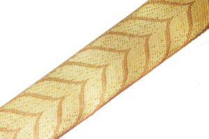 2 inch wide Golden Self Leaves Gota Lace Kinari Border for Lehenga  (per meter price)LC199