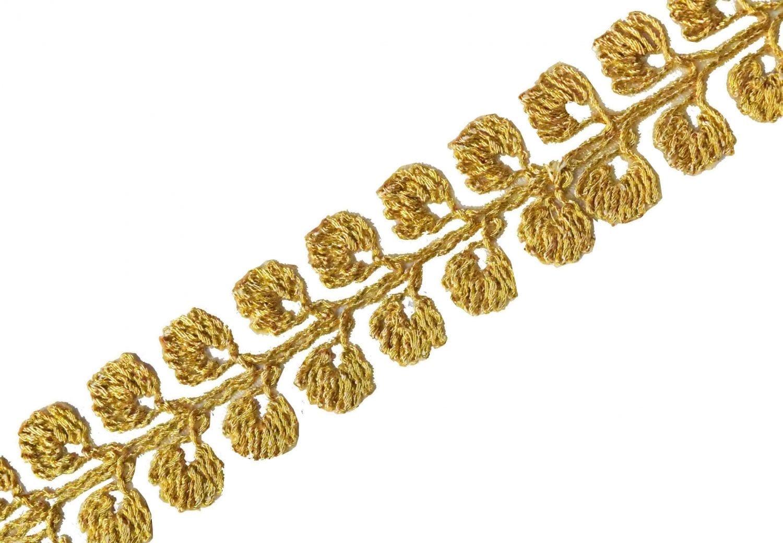 1 inch Wide Golden Zari Gota patti Lace 9 meters Long Piece LC202 1