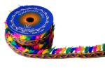 1 inch Wide Multicolour Tassles Lace (per meter price) LC207