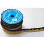 1 inch Wide black Golden Tassles Lace 18 meters Long Piece LC209