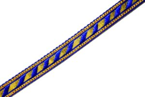 Half inch Wide Blue Golden Gota 18 meters Long Piece LC211