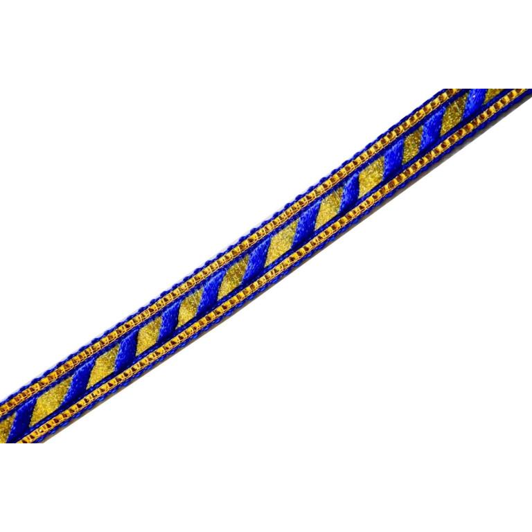 Half inch Wide Blue Golden Gota 18 meters Long Piece LC211