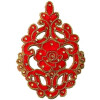 "5.5"" Long Red Motif for Lehenga Kundan Work Embroidered MT0033"
