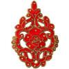 "5.5"" Long Red Motif for Lehenga Kundan Work Embroidered MT0033"