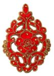 5.5″ Long Red Motif for Lehenga Kundan Work Embroidered MT0033