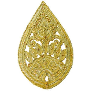 6″ Long Golden Motif for Lehenga Kundan Work Embroidered MT0035