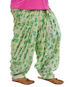 Limited Edition Printed 100%  Pure Cotton Full Patiala Salwar PPS191