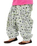 White Printed Full Patiala Salwar Limited Edition 100% Pure Cotton PPS266
