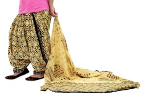 Printed Full Patiala Salwar Dupatta Set Limited Edition 100% Pure Cotton PSD257