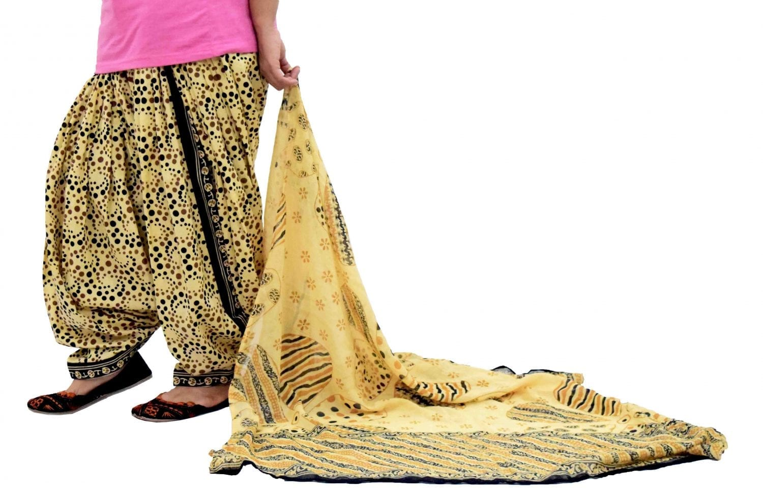 Printed Full Patiala Salwar Dupatta Set Limited Edition 100% Pure Cotton PSD257 1
