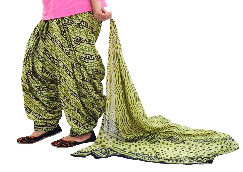 Printed Full Patiala Salwar Dupatta Set Limited Edition 100% Pure Cotton PSD259 1