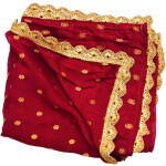 Golden Polka Print Dupatta Semi Chinon – Select Colour of your choice !!