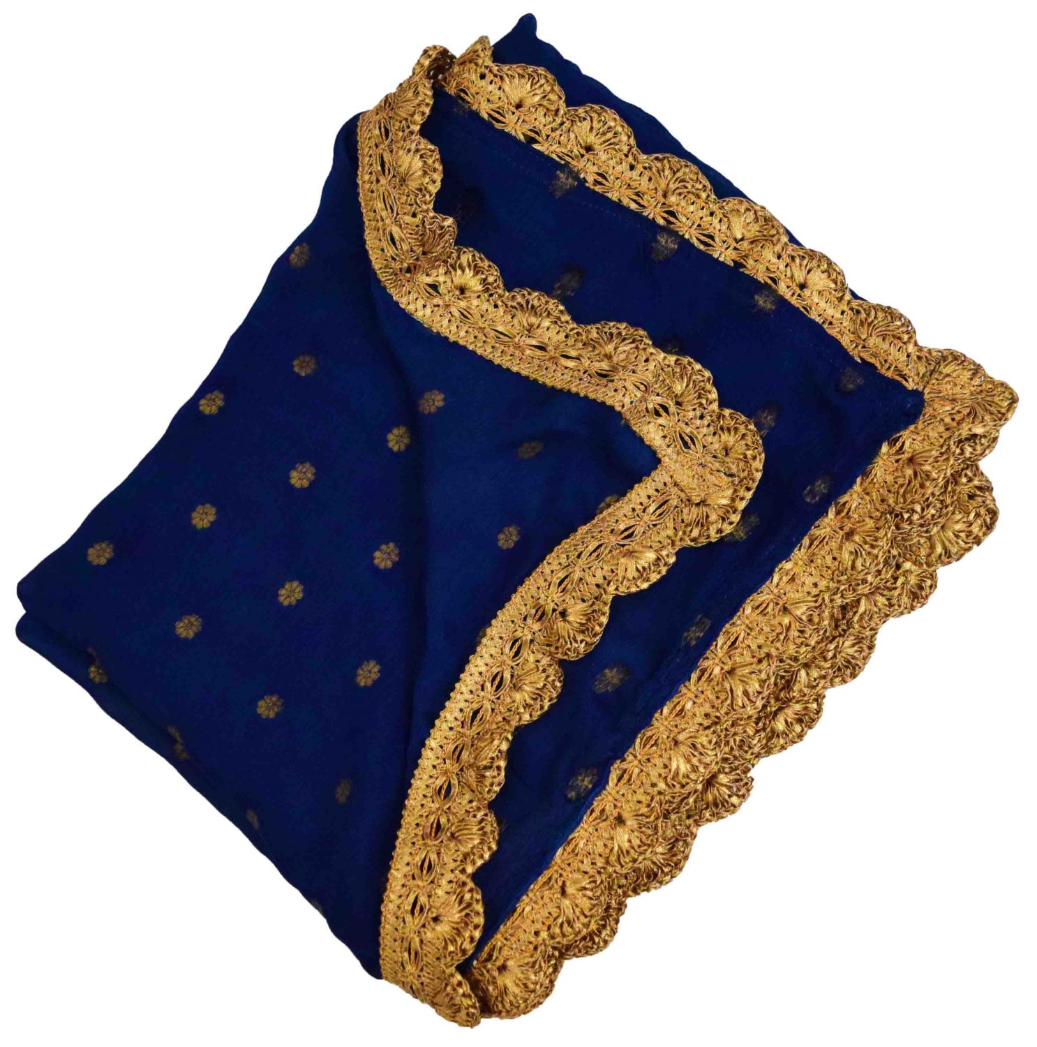 Golden Polka Print Dupatta Semi Chinon - Select Colour of your choice !! 3