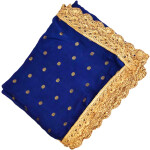 Golden Polka Print Dupatta Semi Chinon with Pakhi Gota