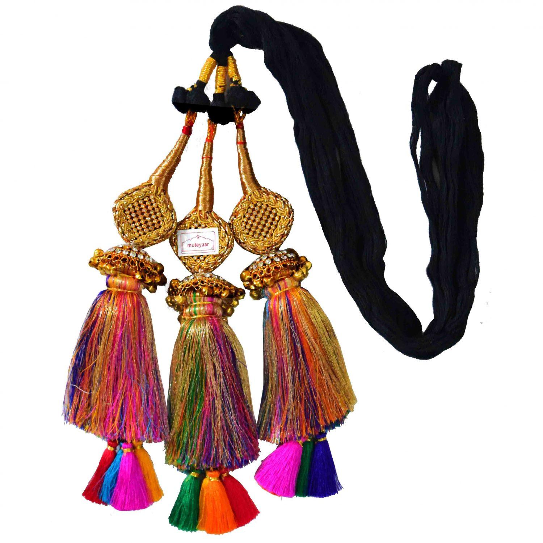 Multi colour Paranda Parandi with Zircons loaded Lotan 1