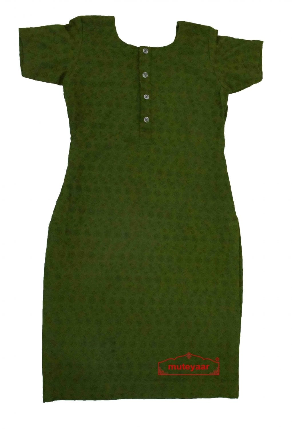 Chikan Kurti Allover embroidered Custom Stitched Cotton Top 3