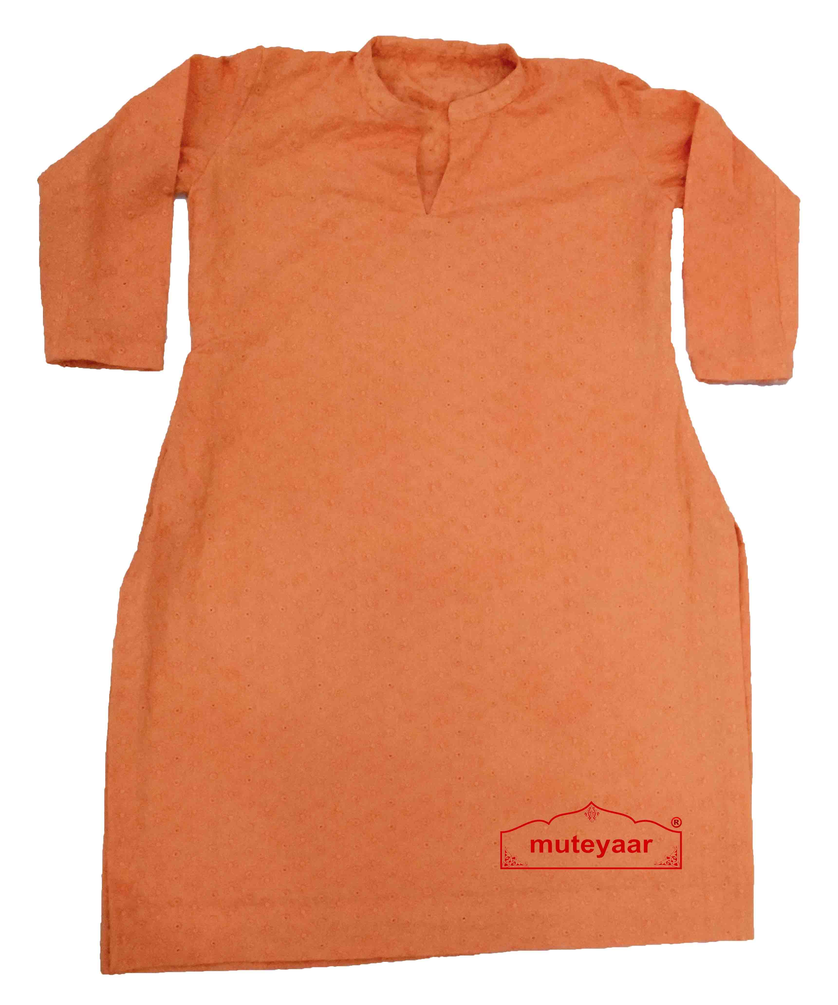 Chikan Kurti Allover embroidered Custom Stitched Cotton Top 1