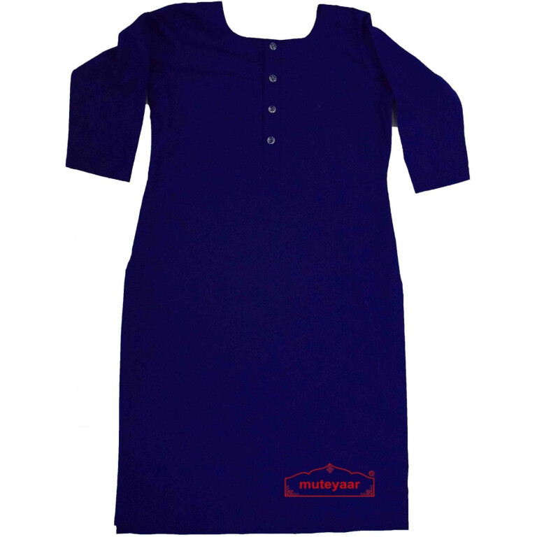 Chikan Kurti Allover embroidered Custom Stitched Cotton Top