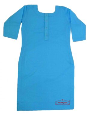 Custom Stitched Plain Cotton Long Kurti Top Tunic Shirt