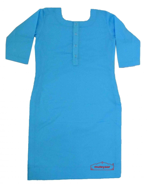 Custom Stitched Plain Cotton Kurti Top Tunic Shirt 1