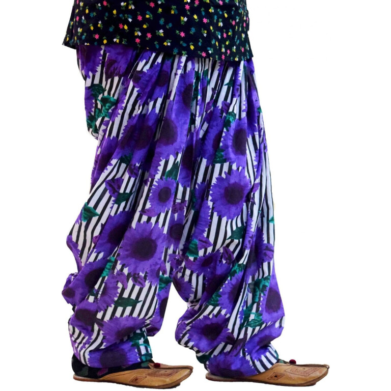 Printed Full Patiala Salwar Limited Edition 100% Pure Cotton Shalwar PPS017