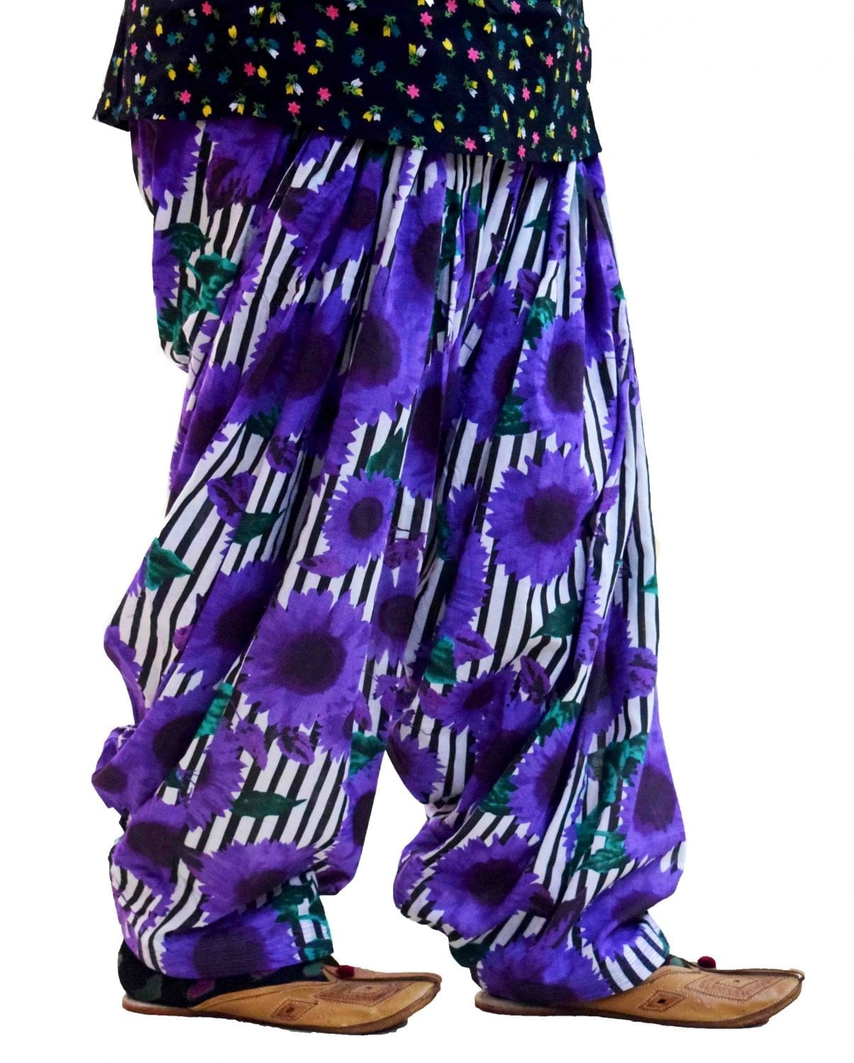 Printed Full Patiala Salwar Limited Edition 100% Pure Cotton Shalwar PPS017 1