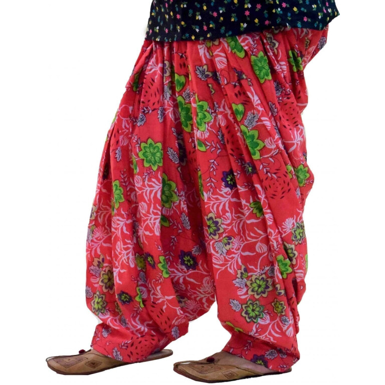 Limited Edition Printed 100%  Pure Cotton Full Patiala Salwar PPS198