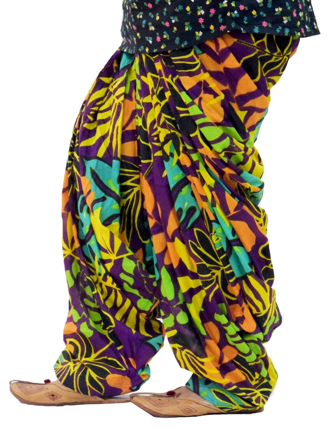 Printed Full Patiala Salwar Limited Edition 100% Pure Cotton Shalwar PPS233 2