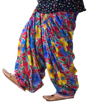 Red Printed Full Patiala Salwar Limited Edition 100% Pure Cotton PPS267