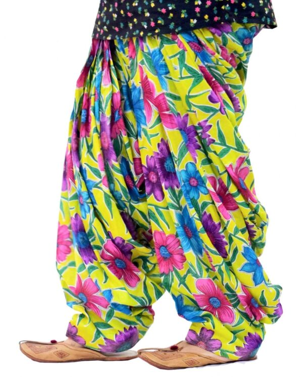 Yellow Printed Full Patiala Salwar Limited Edition 100% Pure Cotton PPS268
