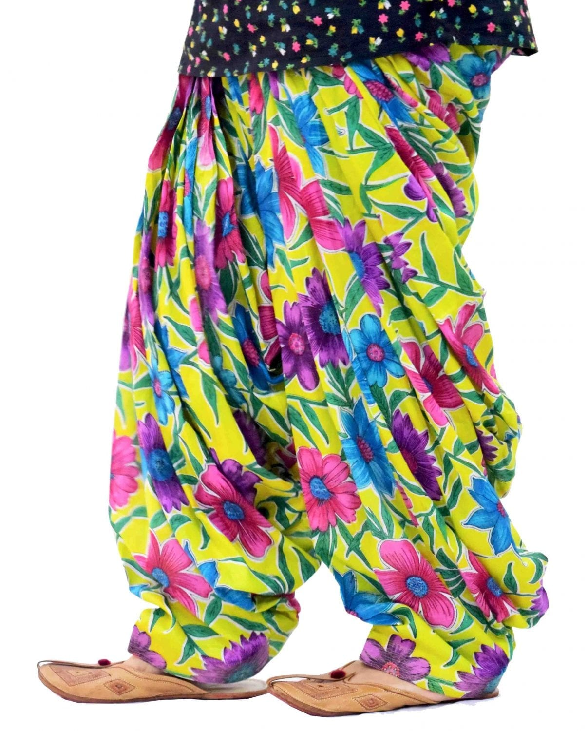 Yellow Printed Full Patiala Salwar Limited Edition 100% Pure Cotton PPS268 1