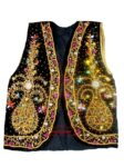 Embroidered BLACK VEST for  Bhangra dance costume  / outfit