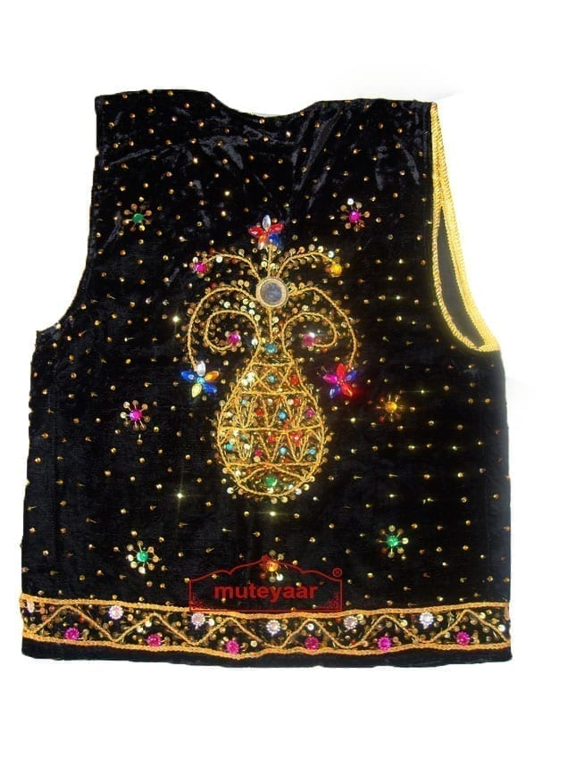 Embroidered BLACK VEST for  Bhangra dance costume  / outfit 2