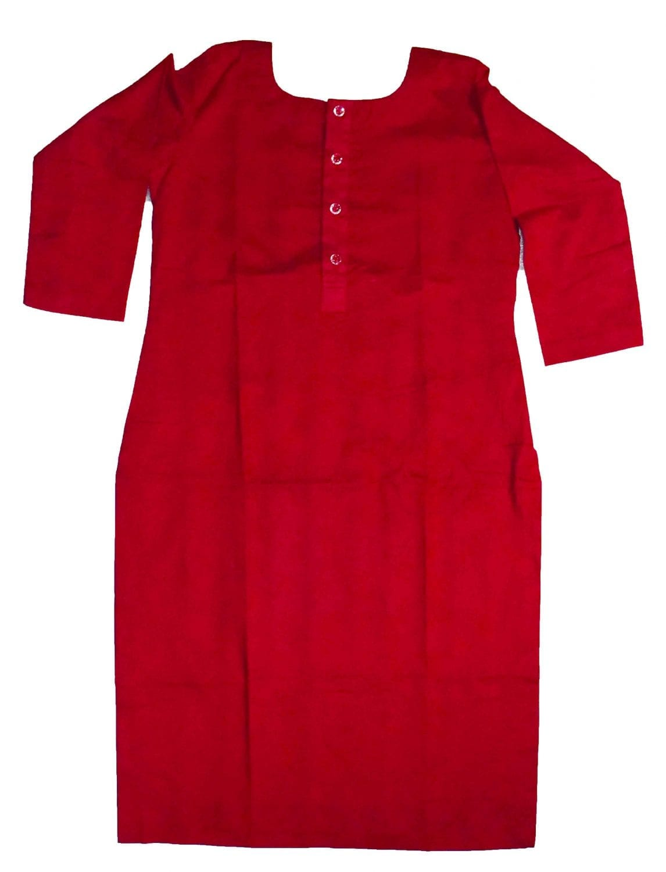 Custom Stitched Plain Cotton Kurti Top Tunic Shirt 3