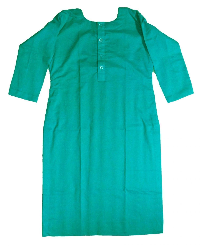 Custom Stitched Plain Cotton Kurti Top Tunic Shirt 5