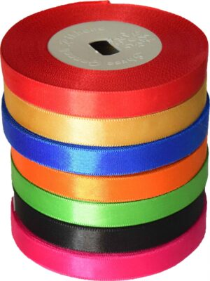 Satin Silk Ribbon Lace LC010 half inch width Roll of 18 mtrs.